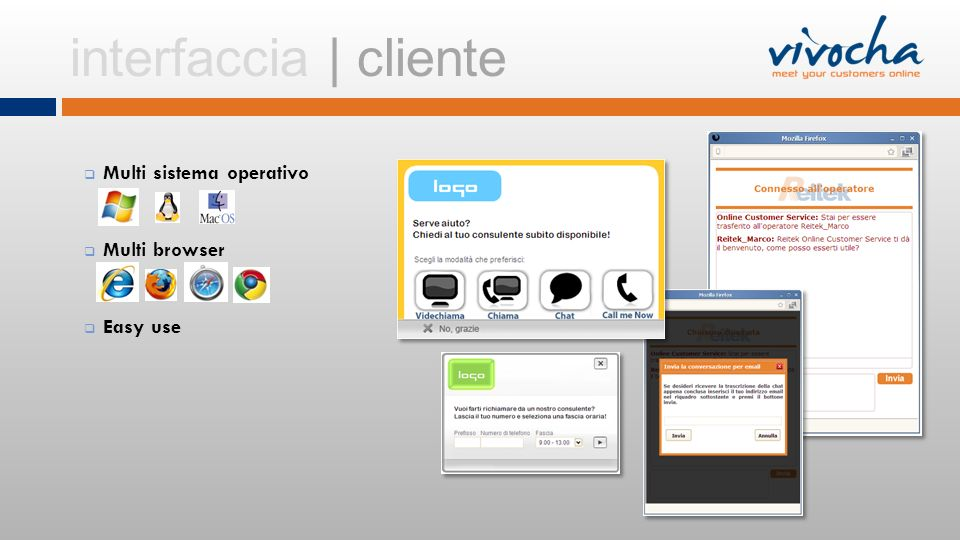 Multi sistema operativo Multi browser Easy use interfaccia | cliente
