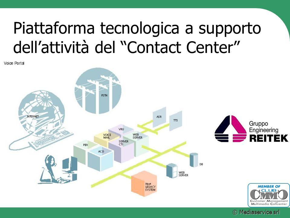 © Mediaservice srl Piattaforma tecnologica a supporto dellattività del Contact Center