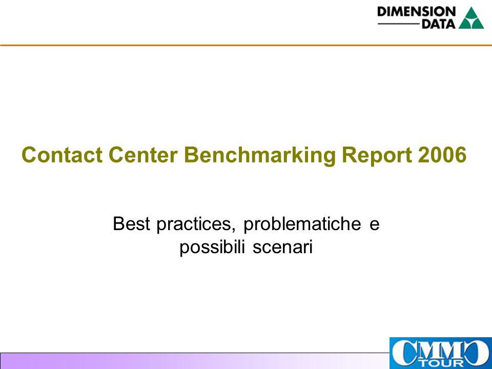 Contact Center Benchmarking Report 2006 Best practices, problematiche e possibili scenari