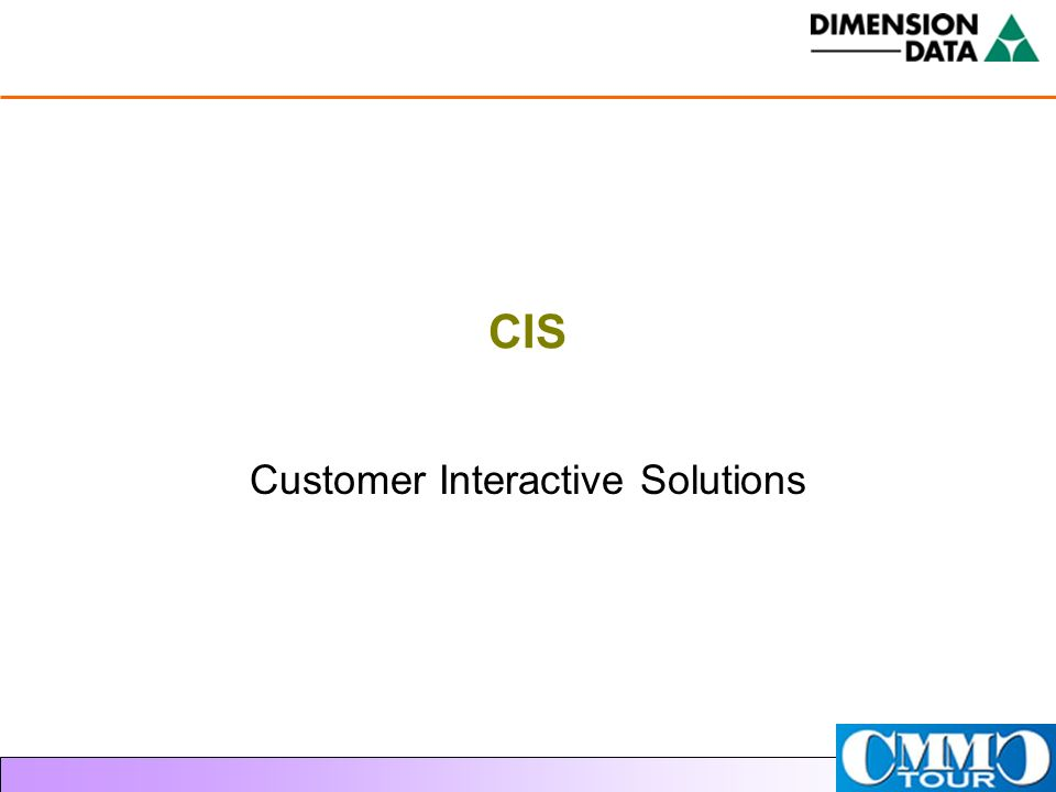 CIS Customer Interactive Solutions