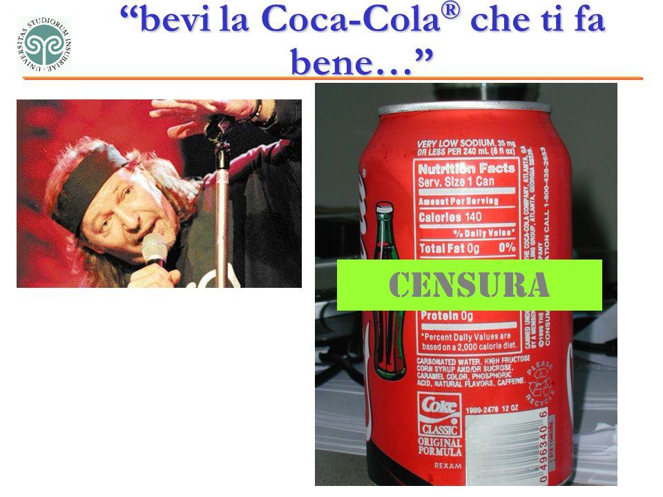 bevi la Coca-Cola ® che ti fa bene… Censura