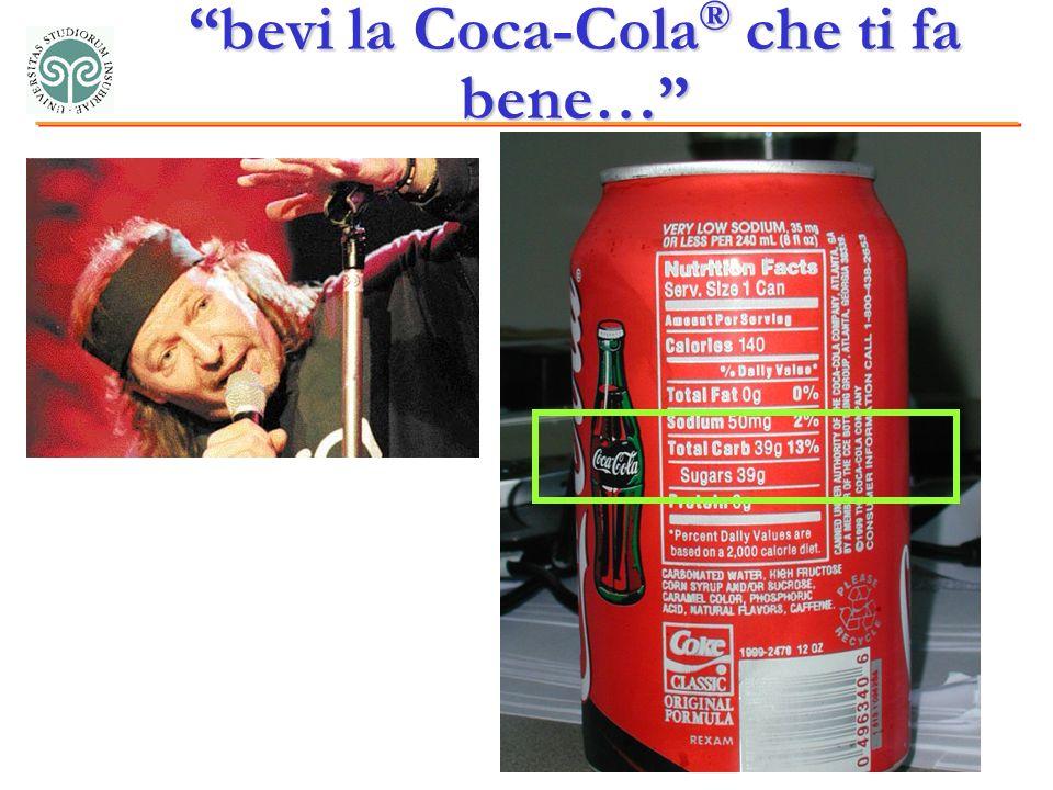 bevi la Coca-Cola ® che ti fa bene…
