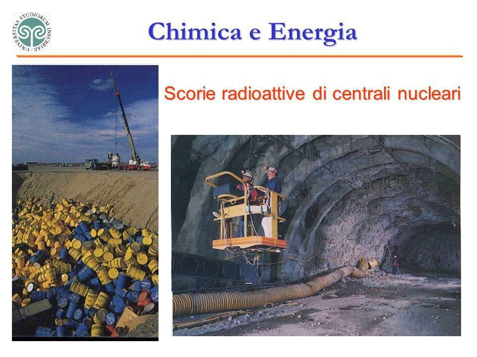 Chimica e Energia Scorie radioattive di centrali nucleari
