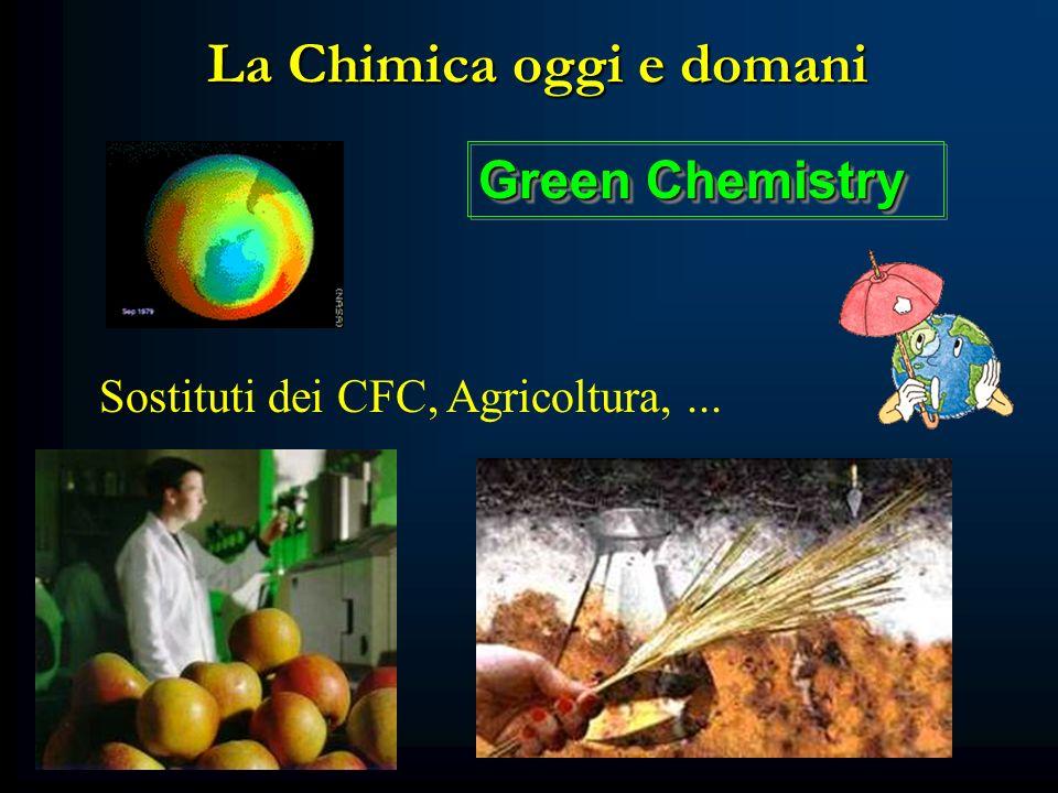 La Chimica oggi e domani Sostituti dei CFC, Agricoltura,... Green Chemistry