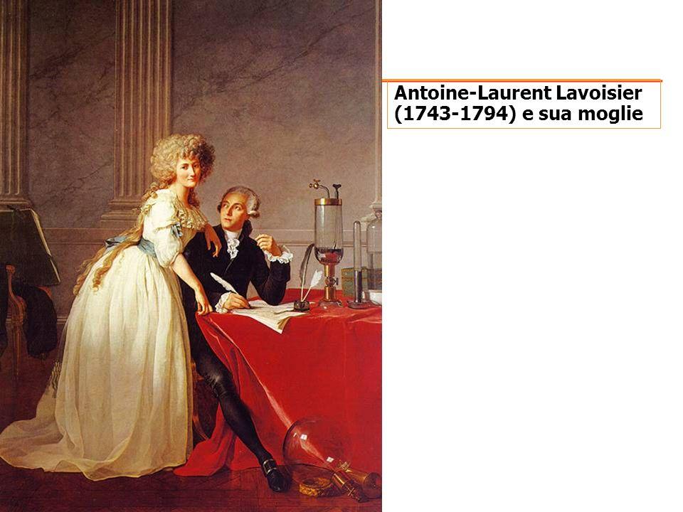 Antoine-Laurent Lavoisier (1743-1794) e sua moglie