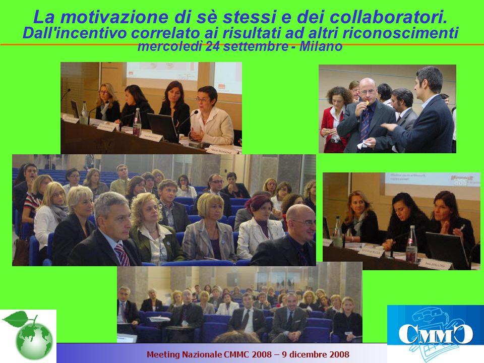 Meeting Nazionale CMMC 2008 – 9 dicembre 2008 La motivazione di sè stessi e dei collaboratori.