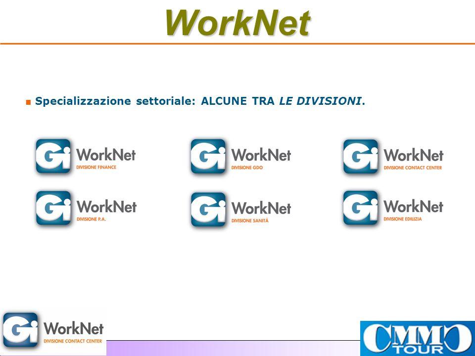 Specializzazione settoriale: ALCUNE TRA LE DIVISIONI.WorkNet