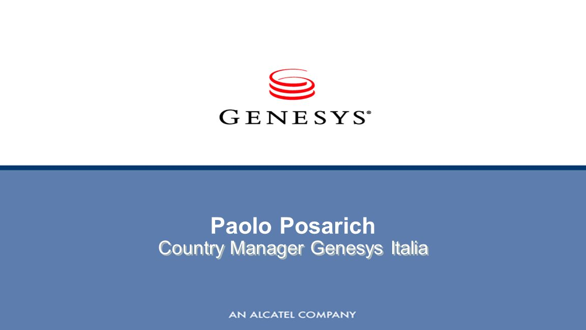 Paolo Posarich Country Manager Genesys Italia