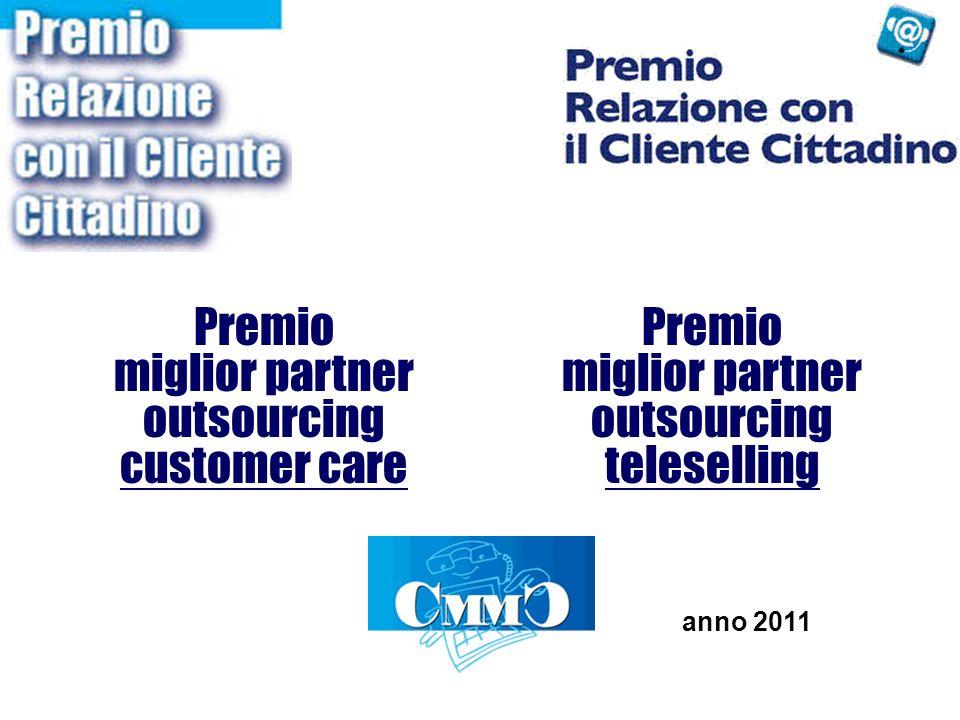 Premio miglior partner outsourcing customer care Premio miglior partner outsourcing teleselling anno 2011