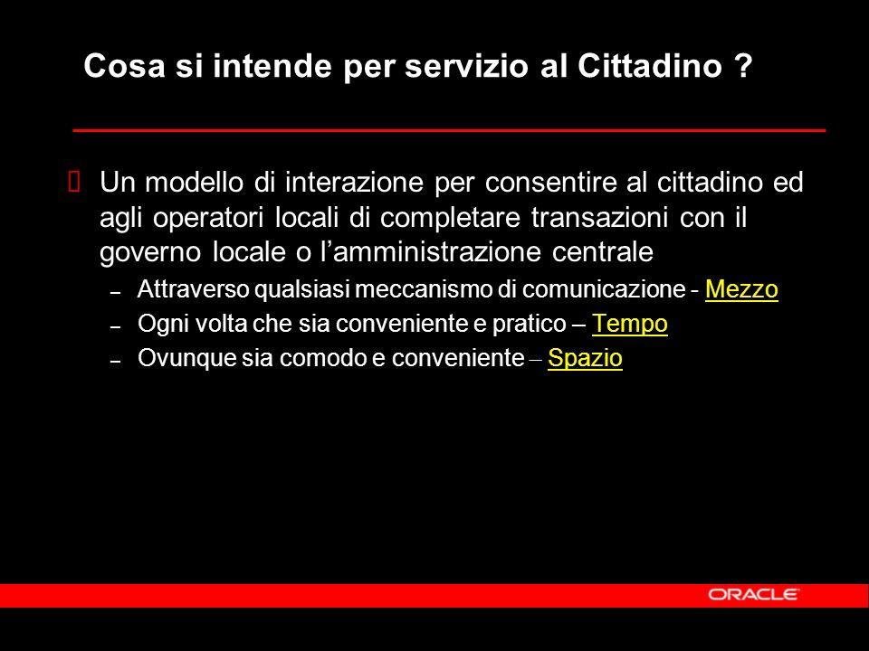 Cosa si intende per servizio al Cittadino .