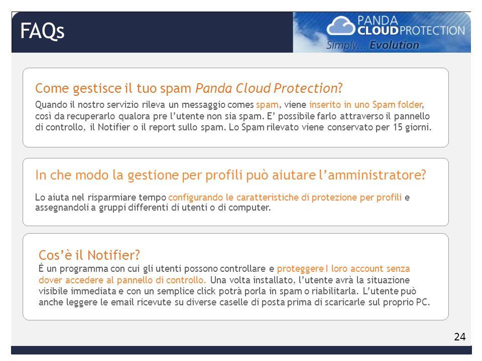 Come gestisce il tuo spam Panda Cloud Protection.