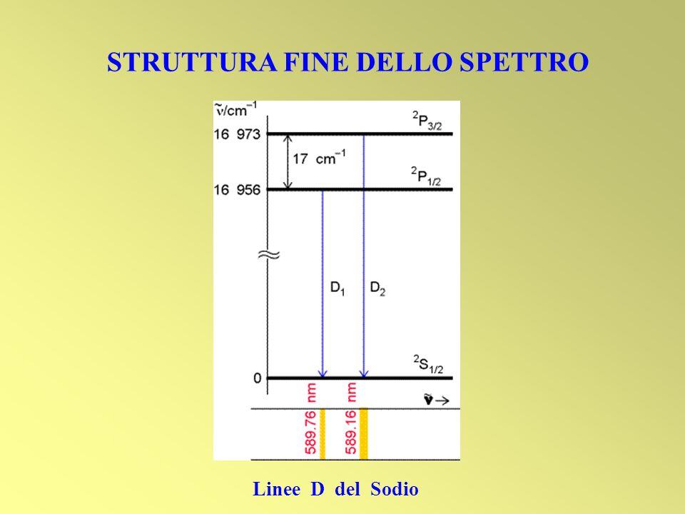 STRUTTURA FINE DELLO SPETTRO Linee D del Sodio