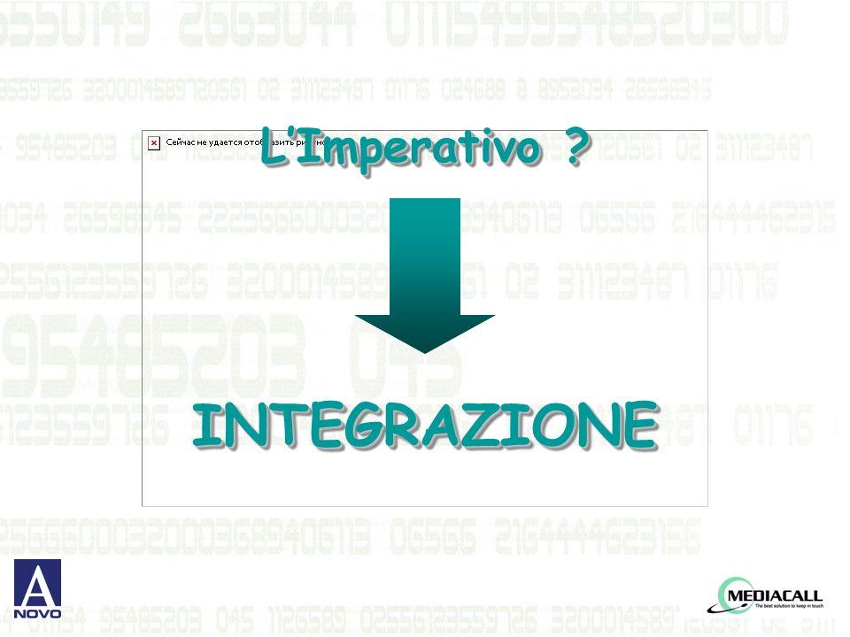 LImperativo INTEGRAZIONE INTEGRAZIONE