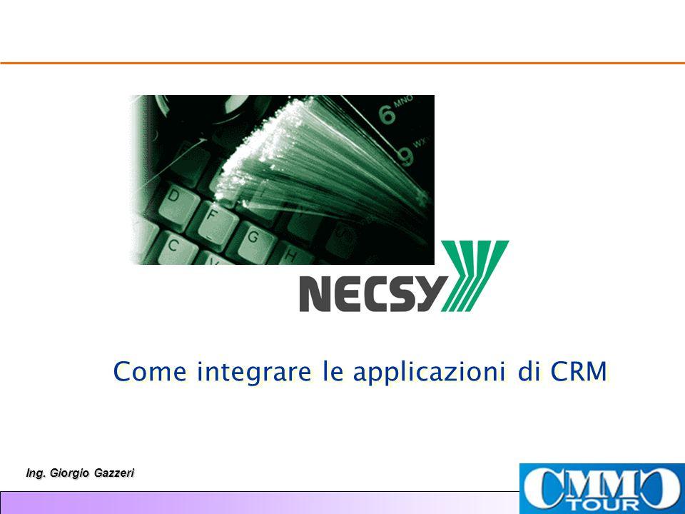 Ing. Giorgio Gazzeri Come integrare le applicazioni di CRM