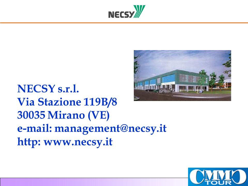 NECSY s.r.l. Via Stazione 119B/8 30035 Mirano (VE) e-mail: management@necsy.it http: www.necsy.it