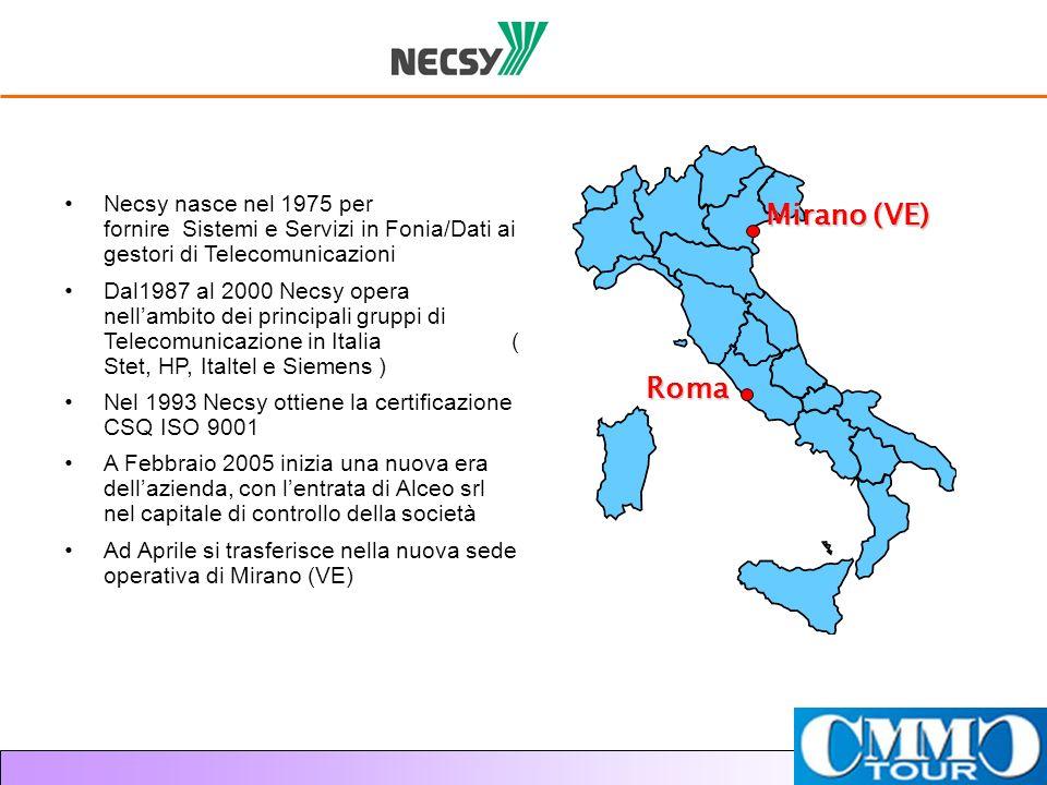 Necsy nasce nel 1975 per fornire Sistemi e Servizi in Fonia/Dati ai gestori di Telecomunicazioni Dal1987 al 2000 Necsy opera nellambito dei principali