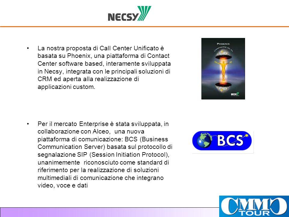 La nostra proposta di Call Center Unificato è basata su Phoenix, una piattaforma di Contact Center software based, interamente sviluppata in Necsy, in