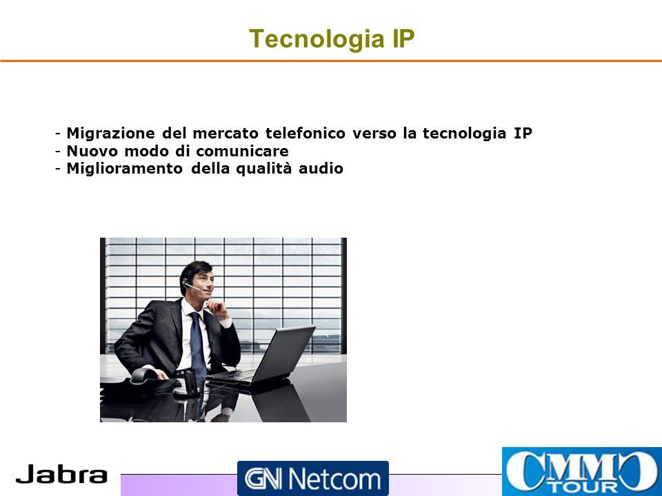 Tecnologia IP - - Migrazione del mercato telefonico verso la tecnologia IP - - Nuovo modo di comunicare - - Miglioramento della qualità audio