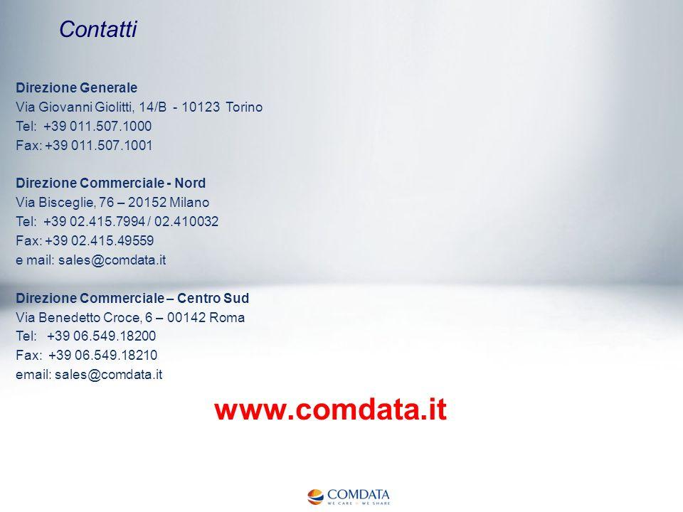 Contatti Direzione Generale Via Giovanni Giolitti, 14/B - 10123 Torino Tel: +39 011.507.1000 Fax: +39 011.507.1001 Direzione Commerciale - Nord Via Bi