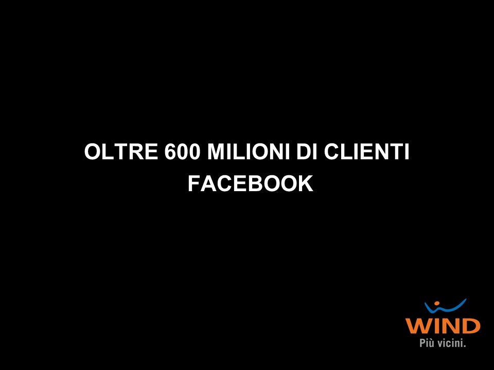 OLTRE 600 MILIONI DI CLIENTI FACEBOOK