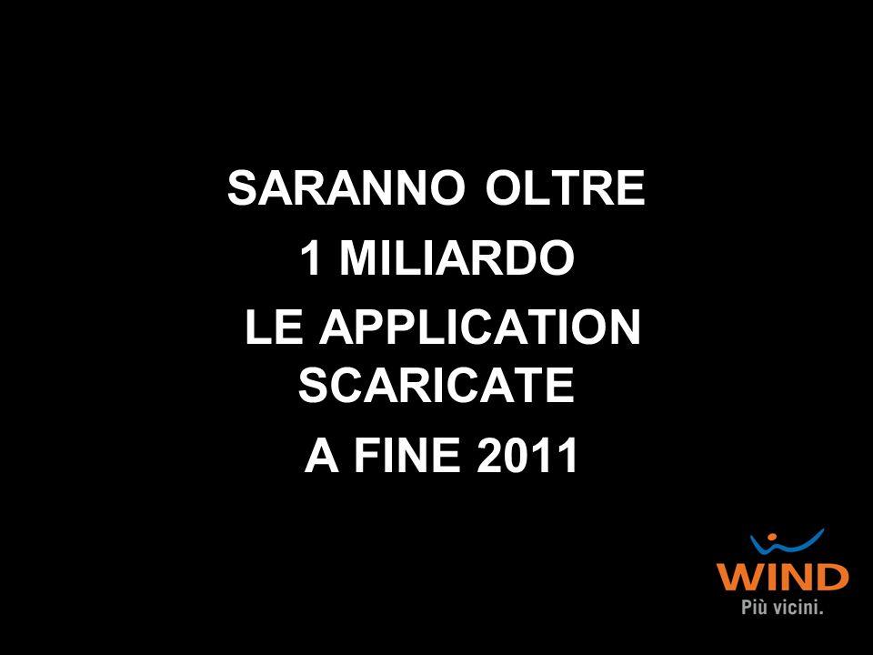 SARANNO OLTRE 1 MILIARDO LE APPLICATION SCARICATE A FINE 2011