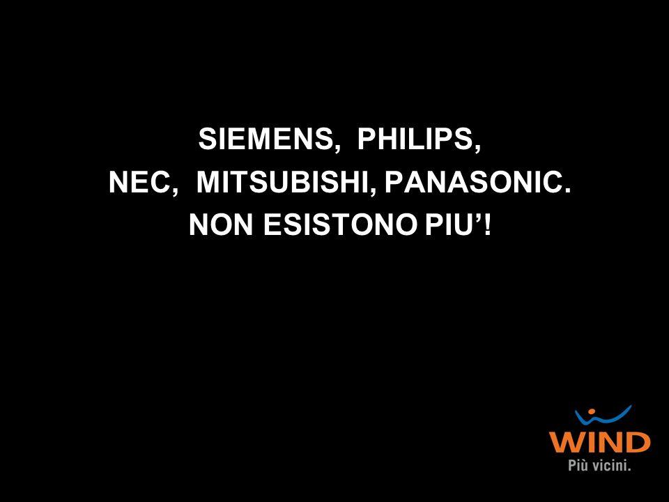SIEMENS, PHILIPS, NEC, MITSUBISHI, PANASONIC. NON ESISTONO PIU!