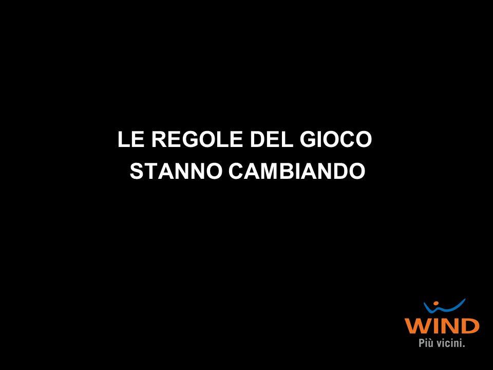 LE REGOLE DEL GIOCO STANNO CAMBIANDO