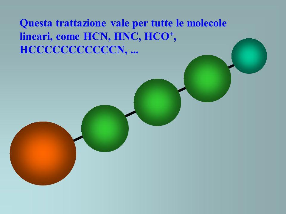 Questa trattazione vale per tutte le molecole lineari, come HCN, HNC, HCO +, HCCCCCCCCCCCN,...