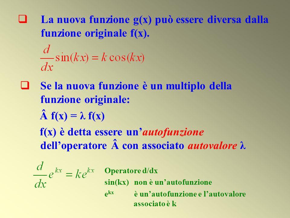 La nuova funzione g(x) può essere diversa dalla funzione originale f(x). Se la nuova funzione è un multiplo della funzione originale: Â f(x) = λ f(x)