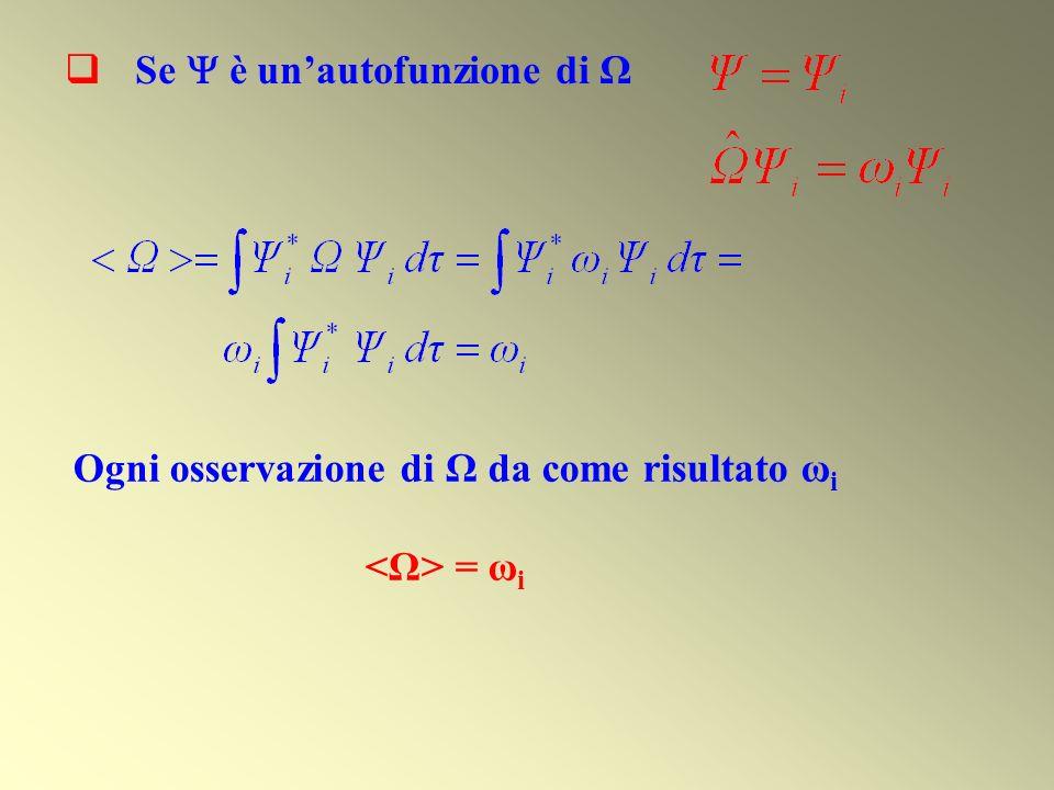 Se è unautofunzione di Ω Ogni osservazione di Ω da come risultato ω i = ω i