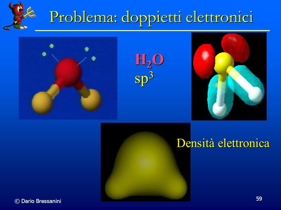 © Dario Bressanini 59 Problema: doppietti elettronici H 2 O sp 3 Densità elettronica