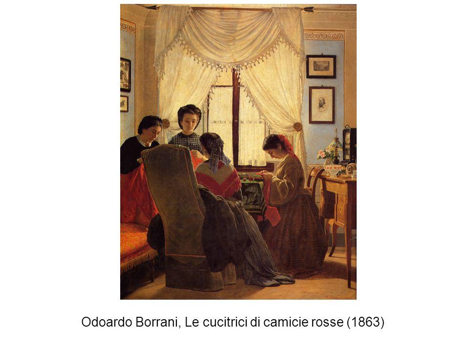 Odoardo Borrani, Le cucitrici di camicie rosse (1863)