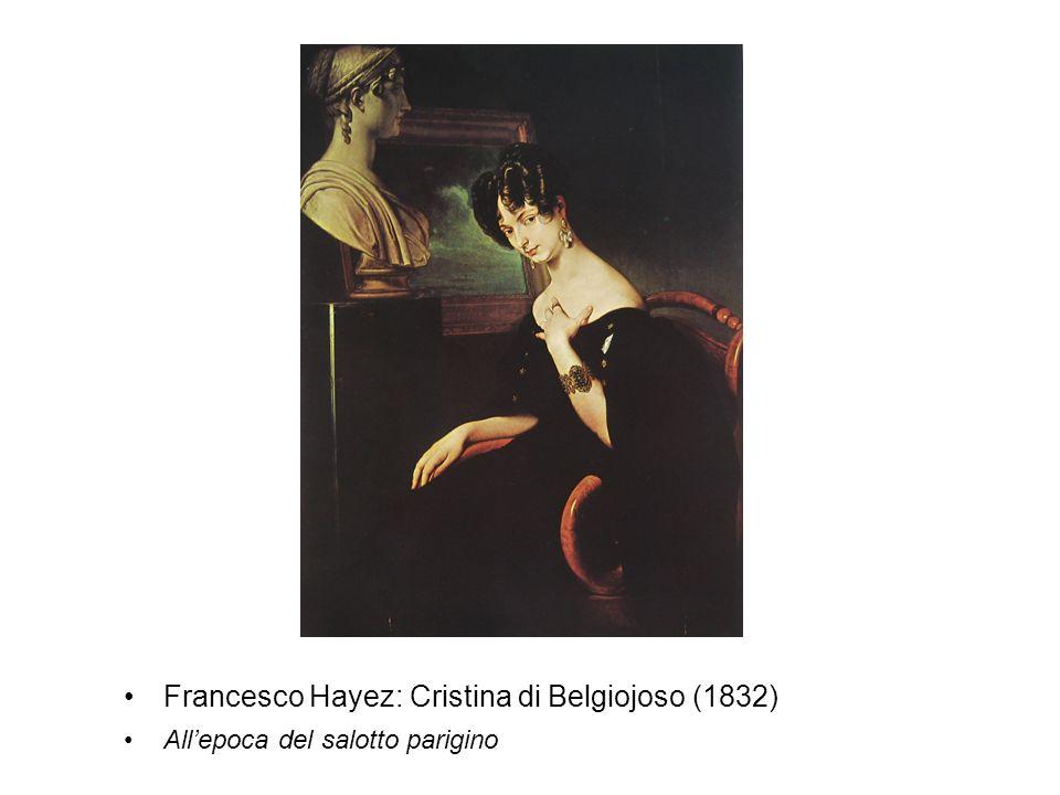 Francesco Hayez: Cristina di Belgiojoso (1832) Allepoca del salotto parigino