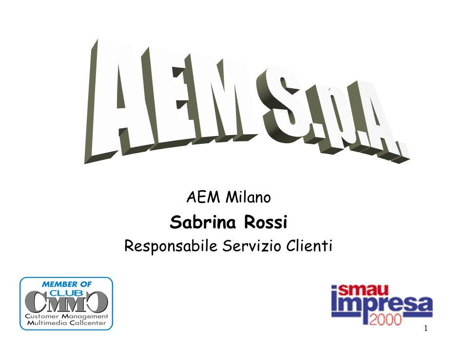 1 AEM Milano Sabrina Rossi Responsabile Servizio Clienti