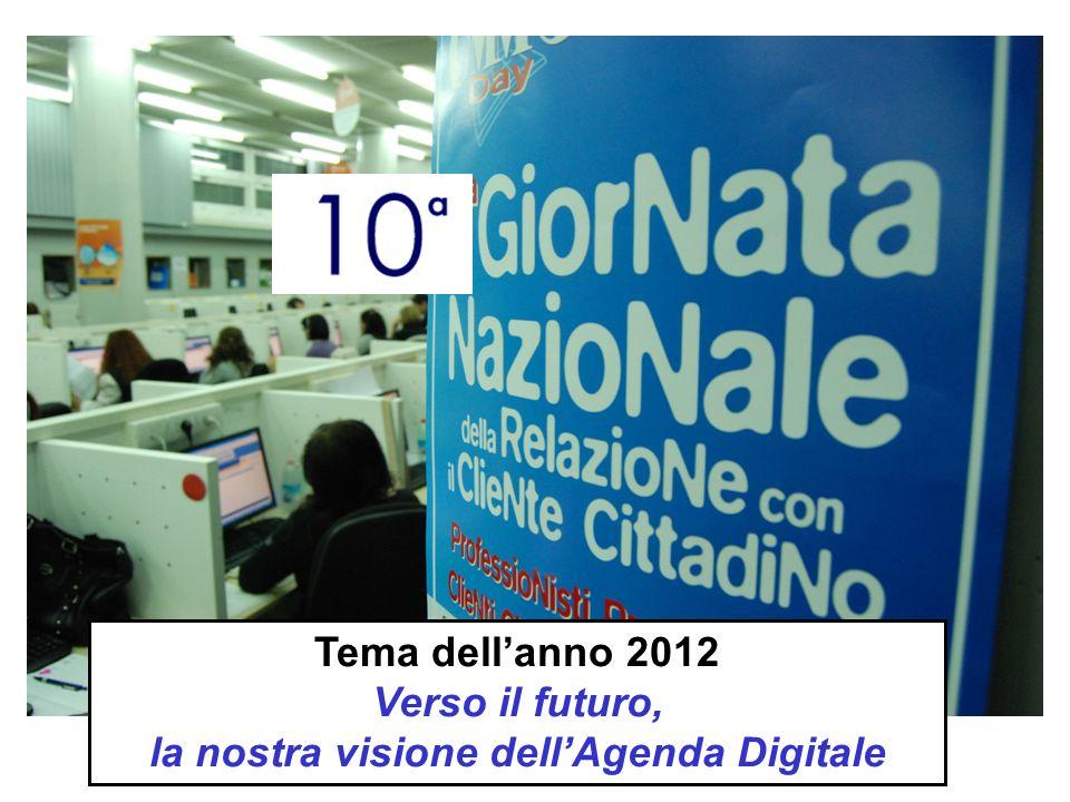 Tema dellanno 2012 Verso il futuro, la nostra visione dellAgenda Digitale
