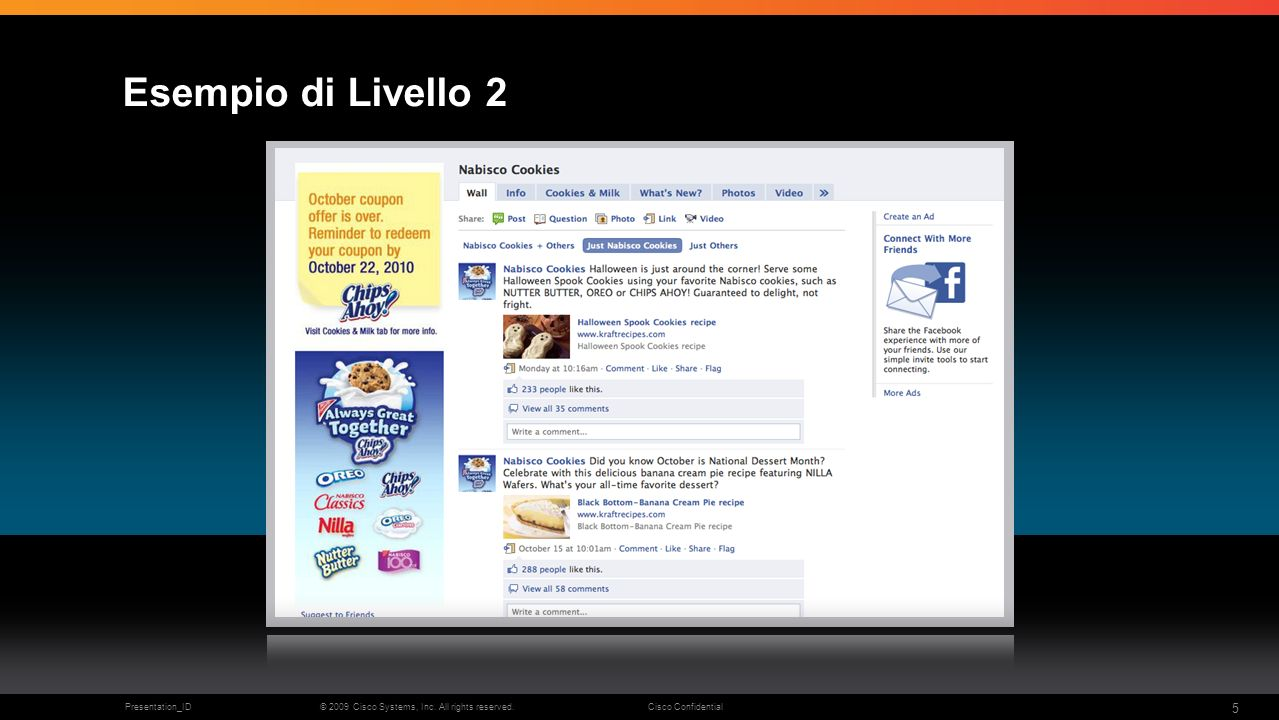 © 2009 Cisco Systems, Inc. All rights reserved.Cisco ConfidentialPresentation_ID 5 Esempio di Livello 2