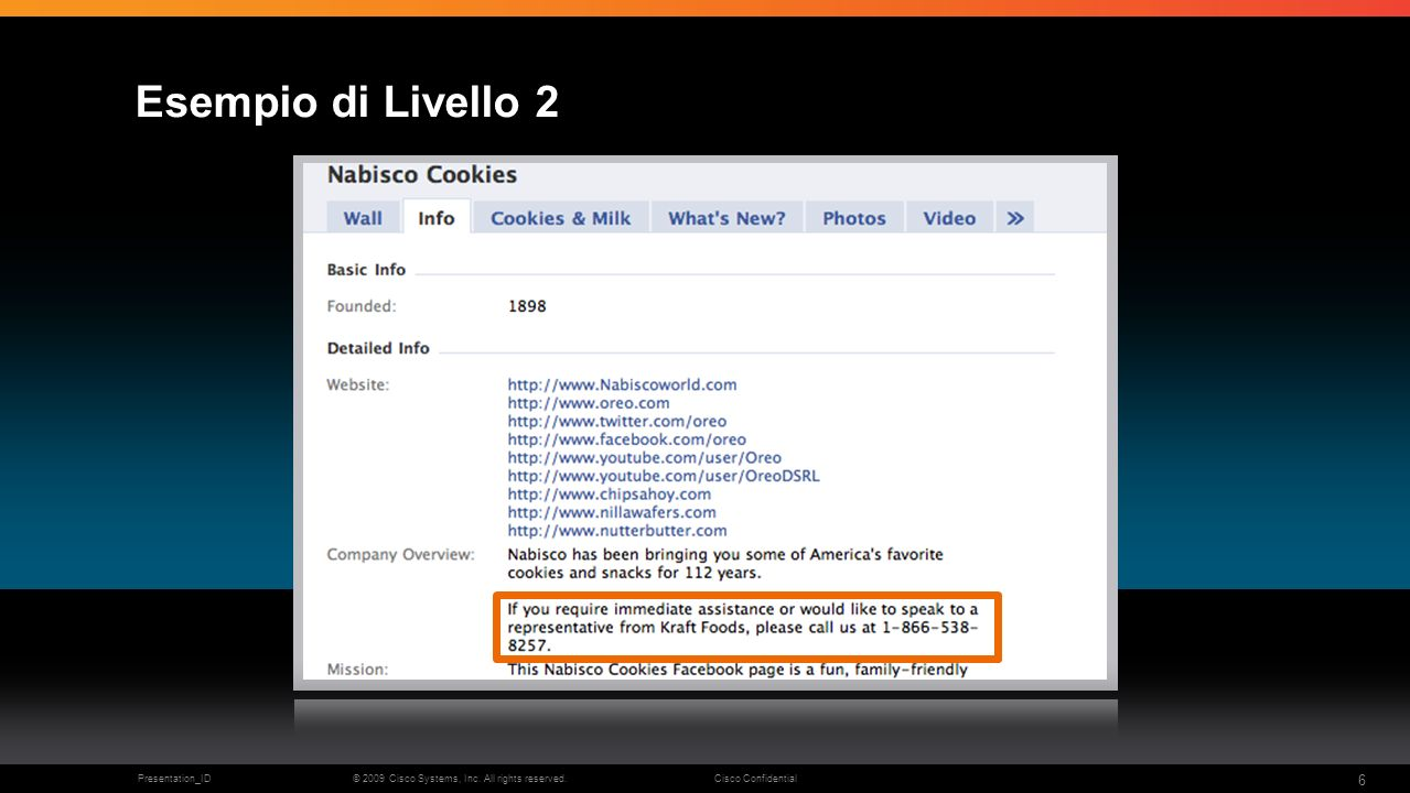 © 2009 Cisco Systems, Inc. All rights reserved.Cisco ConfidentialPresentation_ID 6 Esempio di Livello 2
