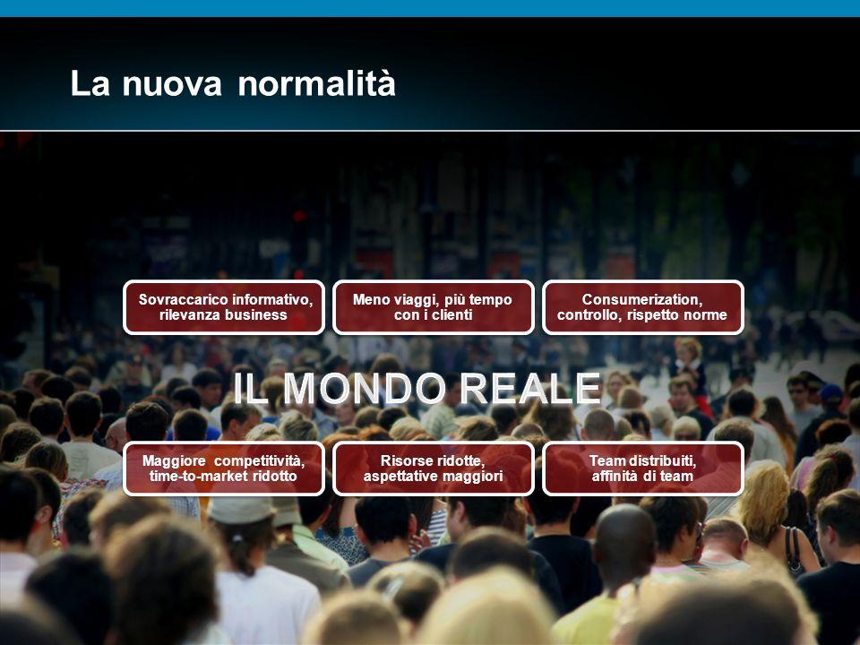 © 2009 Cisco Systems, Inc. All rights reserved.Cisco ConfidentialPresentation_ID 12 La nuova normalità Sovraccarico informativo, rilevanza business So