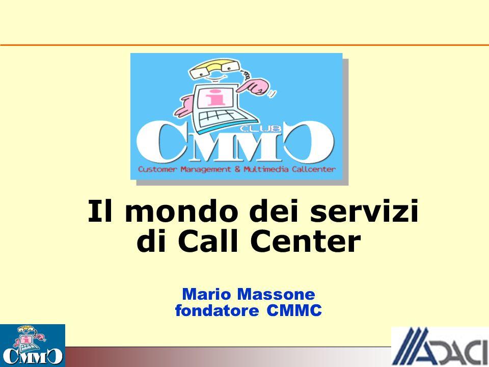 Le attività e i servizi di CMMC 1.ECCCO 1.ECCCO (European Confederation of Contact Center Organisations) 2.Giornata 2.Giornata Nazionale Crm e C.C.