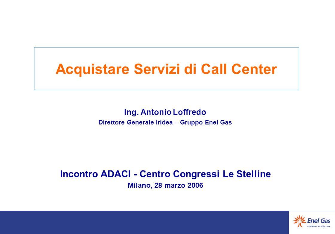 Acquistare Servizi di Call Center Ing.