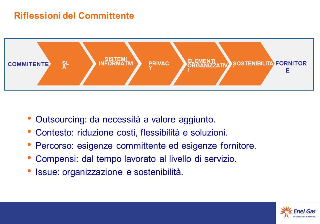 Riflessioni del Committente Outsourcing: da necessità a valore aggiunto.
