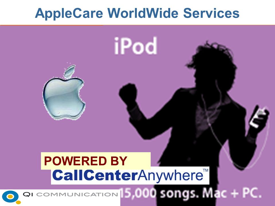 AppleCare WorldWide Services POWERED BY