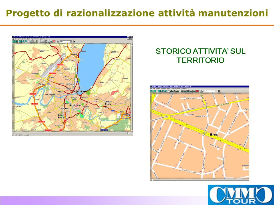 Progetto di razionalizzazione attività manutenzioni STORICO ATTIVITA SUL TERRITORIO