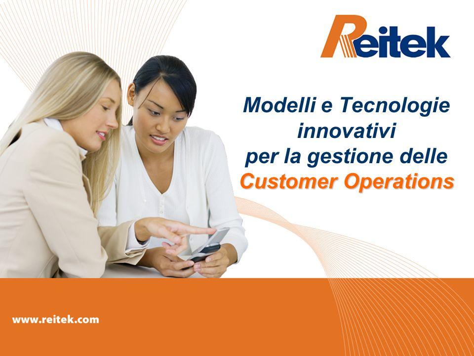 Customer Operations Modelli e Tecnologie innovativi per la gestione delle Customer Operations