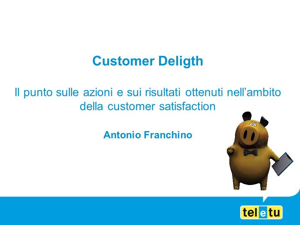 Customer Deligth Il punto sulle azioni e sui risultati ottenuti nellambito della customer satisfaction Antonio Franchino