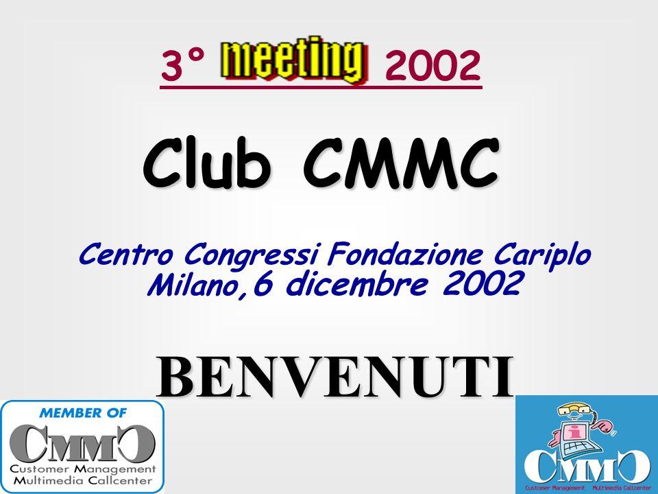 3° 2002 Club CMMC Centro Congressi Fondazione Cariplo Milano,6 dicembre 2002 BENVENUTI