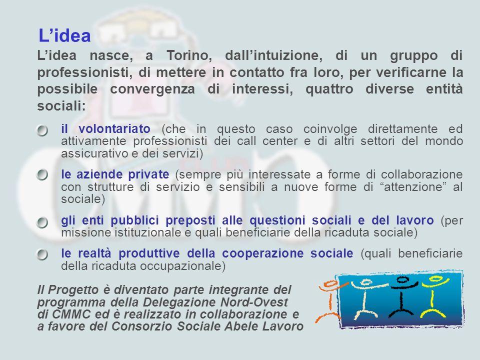 Lidea Lidea nasce, a Torino, dallintuizione, di un gruppo di professionisti, di mettere in contatto fra loro, per verificarne la possibile convergenza
