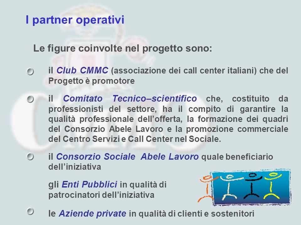 I partner operativi Le figure coinvolte nel progetto sono: il Club CMMC (associazione dei call center italiani) che del Progetto è promotore il Comita
