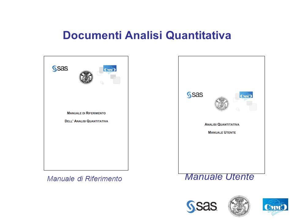 Documenti Analisi Quantitativa Manuale di Riferimento Manuale Utente