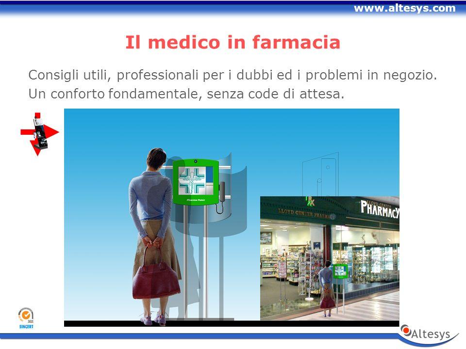 www.altesys.com Il medico in farmacia Consigli utili, professionali per i dubbi ed i problemi in negozio.